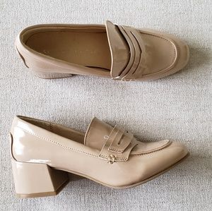 Chinese Laundry Moty patent loafer block heel 6.5